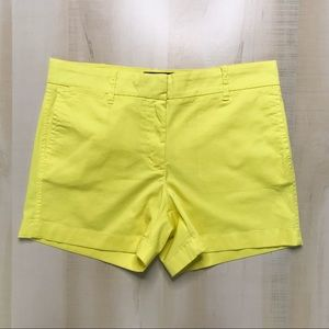 J.CREW CHINO Vivid Yellow Shorts Size 6